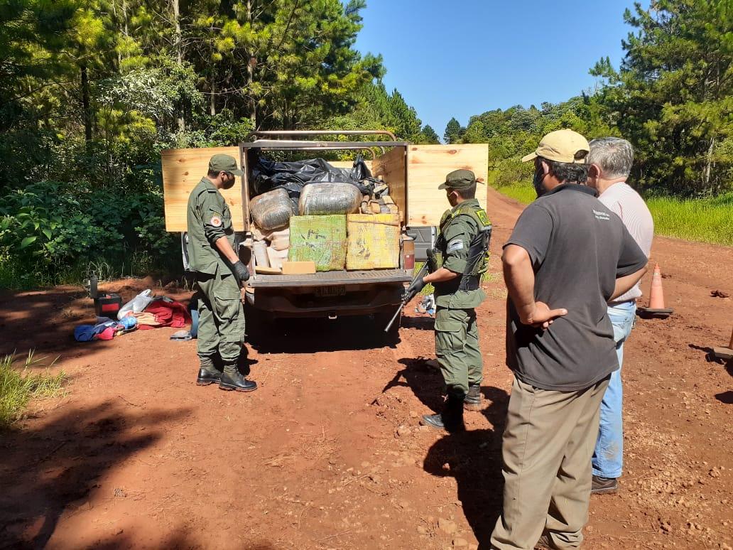 La Gendarmería secuestró más de una tonelada de marihuana en Misiones