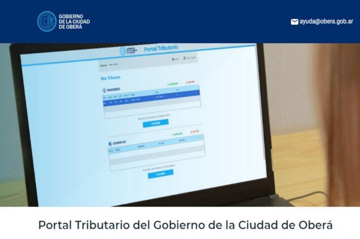 Con el Portal Tributario los ciudadanos de Oberá podrán abonar tasas comerciales e inmueble a través de una plataforma online