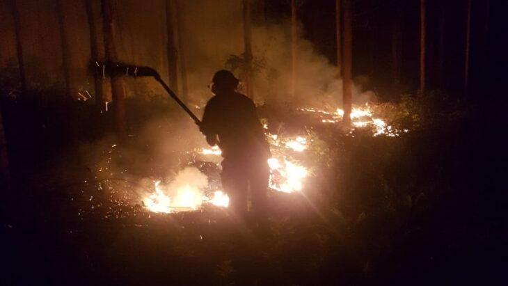 Dos incendios fueron sofocados en las últimas horas en Oberá y San Martín