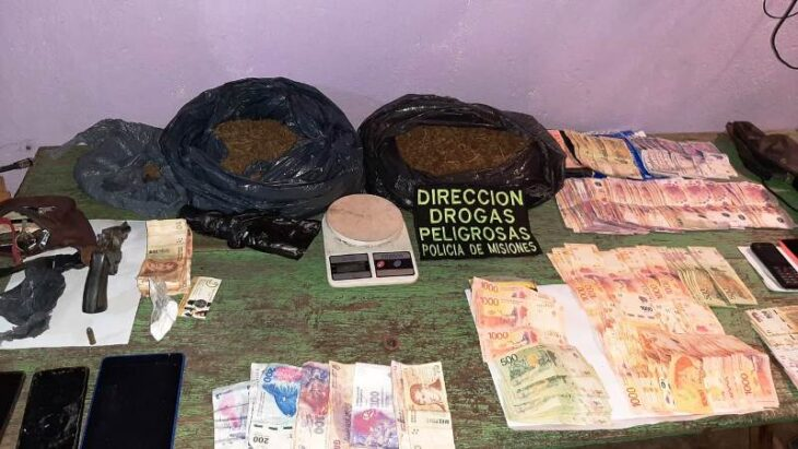 Lucha contra el narcotráfico: desbarataron un «kiosco» de marihuana en Garupá