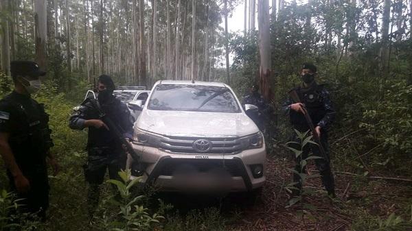 Colonia Victoria: camioneta robada fue recuperada tras un rápido operativo policial