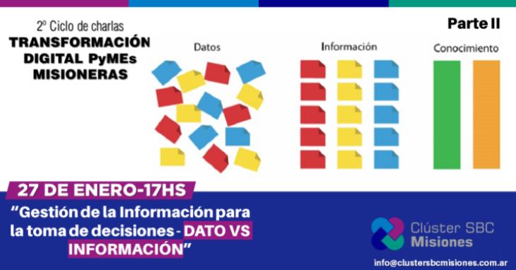 """El Cluster SBC Misiones continúa con la segunda parte de la capacitación """"Gestión de la Información para la toma de decisiones: Datos vs. Información"""""""