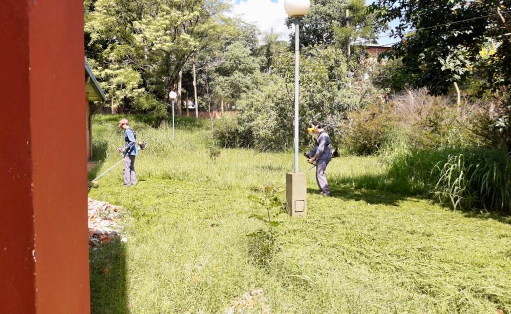 エルドラド:両親と学生が集まってEPETN°6で草を刈り、木を植えました