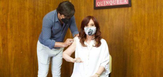 Cristina Kirchner recibió la primera dosis de la vacuna Sputnik V