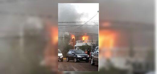 Se incendió una vivienda en Posadas