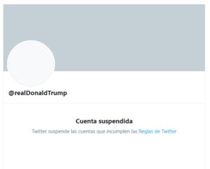 """Twitter suspendió indefinidamente la cuenta de Donald Trump por """"riesgo de incitar nuevamente a la violencia"""""""