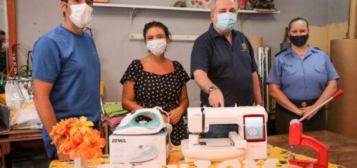 Passalacqua y el ministro Pérez entregaron equipamiento en la Unidad Penal V de mujeres