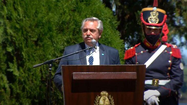 Alberto Fernández, en Yapeyú: «Cuando quieren hacerme claudicar, yo pienso en San Martín»