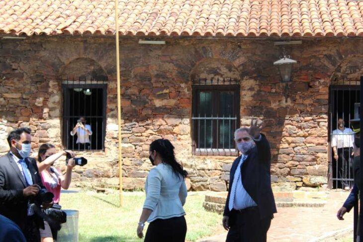 El gobernador Herrera Ahuad participó junto al presidente Alberto Fernández del homenaje al general San Martín en Yapeyú