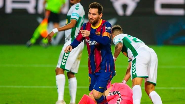 Con Messi como autor de dos goles, el Barcelona le ganó a Elche por 3-0