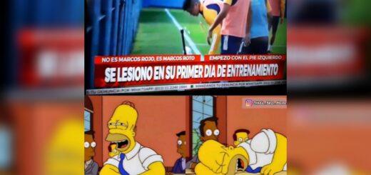 Las redes sociales estallaron con memes por la temprana lesión de Marcos Rojo en Boca