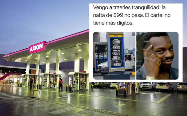 Axion le respondió a un meme: cómo modificará los carteles cuando el combustible supere los 100 pesos