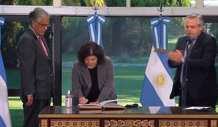 Carla Vizzotti asumió en el Ministerio de Salud de la Nación