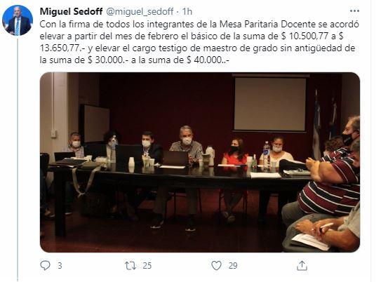 Paritaria docente en Misiones: el gobierno y los gremios acordaron un aumento del 30% y el salario básico será de $13.650 y el de bolsillo $40 mil