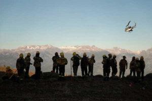 Río Negro: llegan nuevos brigadistas para ayudar a contener el incendio en El Bolsón