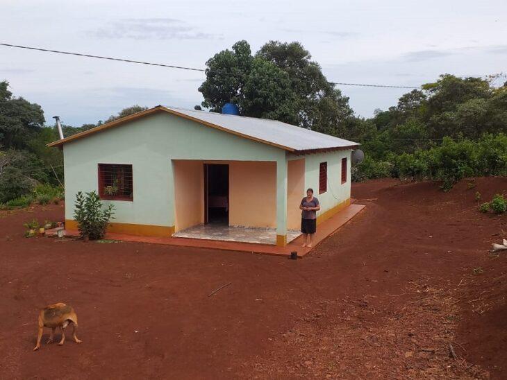 Nuevas viviendas rurales del IPRODHA gestionadas por mujeres de San Pedro