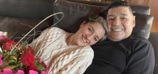 """Jana Maradona recordó a Diego con un video inédito: """"Infinitamente enamorada"""""""