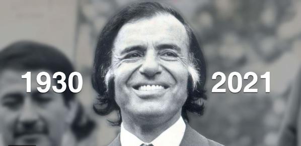#MurióMenem. El Presidente Alberto Fernández decretó tres días de duelo nacional por su fallecimiento