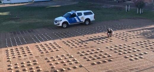 Prefectura secuestró un cargamento de casi 700 kilos de marihuana en Misiones