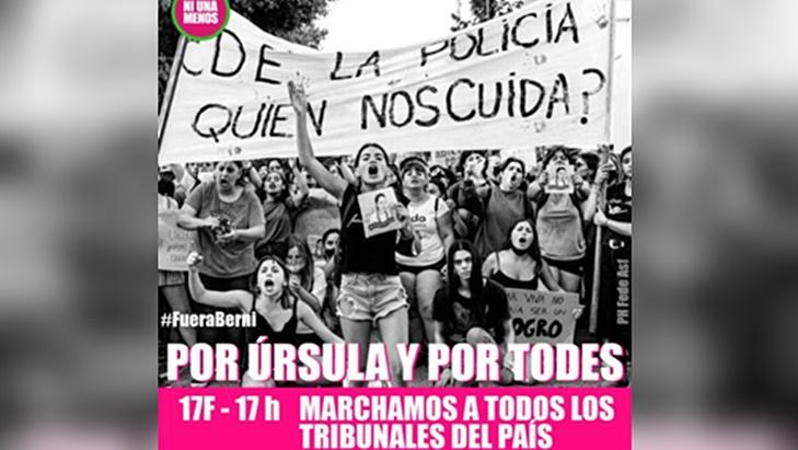 Úrsula Bahillo: desde el movimiento NiUnaMenos convocan a una marcha nacional en protesta por el femicidio de la joven