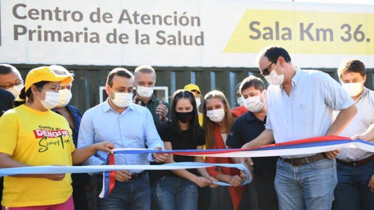 El gobernador Herrera Ahuad inauguró un innovador CAPS en Santiago de Liniers fabricado íntegramente con tecnología y mano de obra misionera