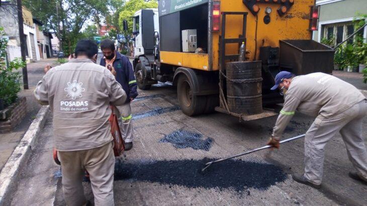 El municipio terminó la reparación de calles céntricas en Posadas