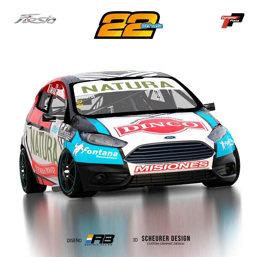 Automovilismo: Urrutia presentó el diseño del auto que utilizará para correr en la Clase 3 del Turismo Pista