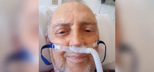 Coronavirus: el ex ministro de Salud de Misiones, José Guccione, compartió en las redes sociales una imagen de su internación
