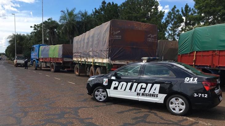 Fachinal: interceptaron otros dos camiones que transportaban soja no registrada