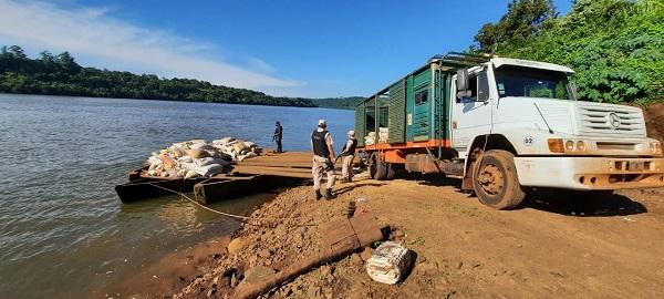 Misiones: Prefectura secuestró más de once toneladas de granos de soja