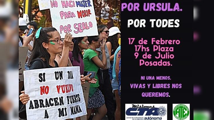 Por el femicidio de Úrsula, Ni Una Menos convoca a una marcha hoy en todo el país: en Posadas se concentrarán en la plaza 9 de Julio