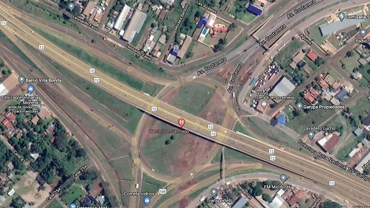 Vialidad Nacional informó que se encuentra interrumpido el tránsito en la zona ex Garita Garupá