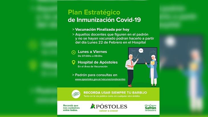 Vacunación de mayores de 75 años en Apóstoles: con «gran éxito» finalizó la primera jornada de inmunización