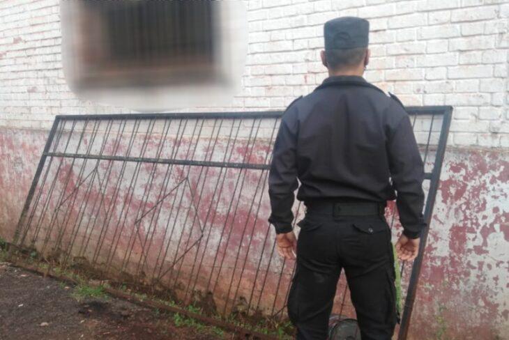 Eldorado: lo atraparon arrastrando el portón robado de un vecino, quedó detenido
