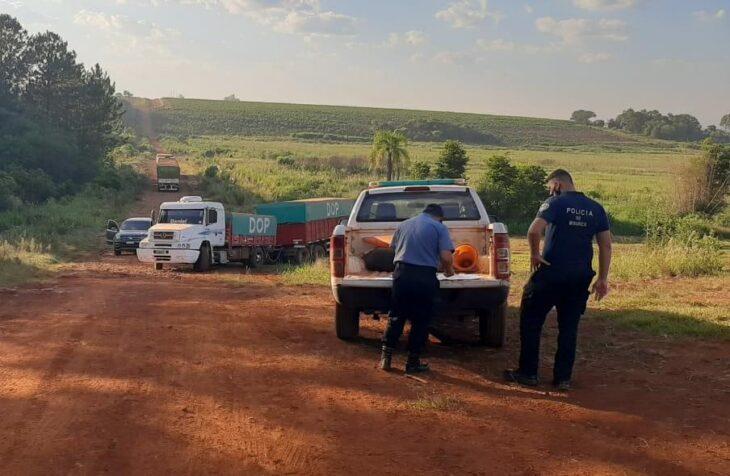 Apóstoles: retuvieron otros cuatro camiones que intentaron ingresar cerca de 120 toneladas de soja ilegal a Misiones