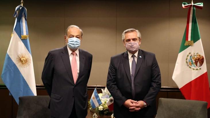 El presidente Alberto Fernández se reunió con el empresario mexicano Carlos Slim