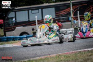 Karting: Chicho Grimaldi alcanzó la primera posición y sumó puntos en la Rotax Bue