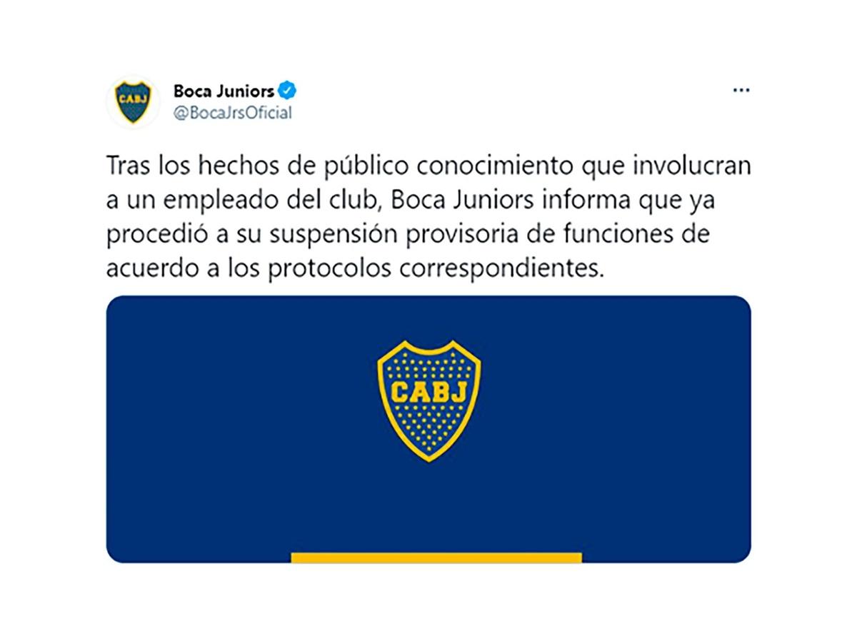 Un empleado de Boca fue filmado mientras bailaba desnudo frente a futbolistas de Los Andes y fue suspendido