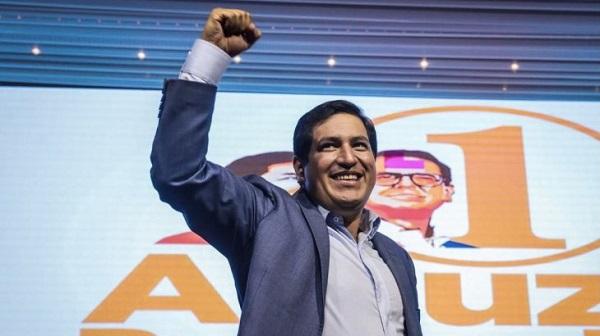 Elecciones en Ecuador: Arauz se declaró ganador aunque pidió «esperar los resultados oficiales»