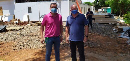 Puerto Iguazú: avanza la obra del hospital modular que estará listo en marzo