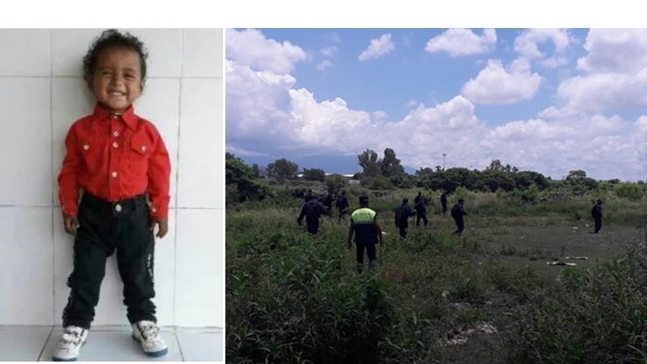 búsqueda de un nene de 3 años