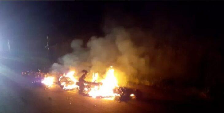 Dos motociclistas fallecieron después de una colisión en Montecarlo