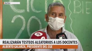 """Realizarán testeos aleatorios a los docentes misioneros """"para que el regreso a las escuelas sea cuidado"""", dijo Alberto Galarza"""