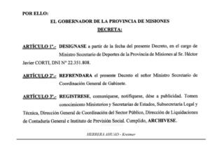 Son oficiales las designaciones de los ministros Trevisán en Industria y Corti en Deportes