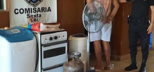 Posadas: detuvieron a un joven que robó electrodomésticos a su ex pareja