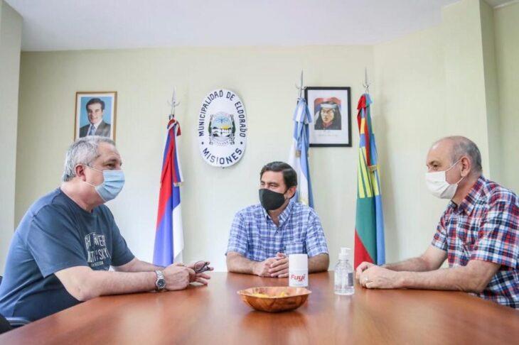 Eldorado: el intendente recibió al diputado nacional Ricardo Wellbach y al diputado provincial Hugo Passalacqua