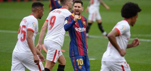 Con un gol de Lionel Messi, el Barcelona superó al Sevilla y se pone a tiro de la cima en la liga española