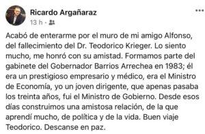 Teodorico Krieger ex ministro de Economía de Misiones, destacado médico y reconocido empresario murió el domingo a los 87 años