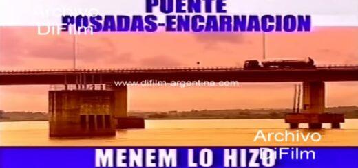 Murió Menem   El puente Posadas - Encarnación, fue una de las obras públicas inauguradas durante el gobierno del expresidente