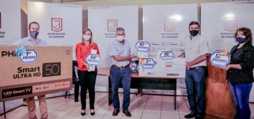 Eldorado: se realizó el sorteo de 15 electrodomésticos para los que abonaron el total de la Tasa Retributiva a la Propiedad 2021